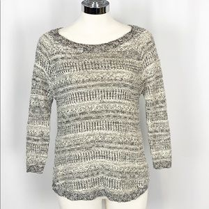 Lucky Brand Marled Gray & White Pullover Sweater